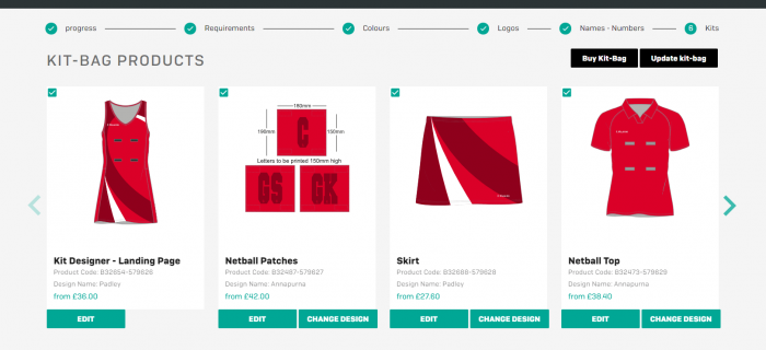 Kit Designer Kitbag Screenshot