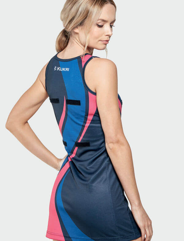 Woman in Navy Blue and Netball Kit